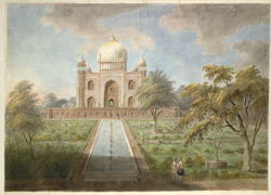 The tomb of Safdar Jang showing the garden and water channel